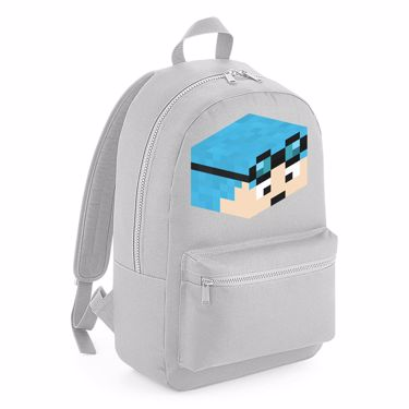 Picture of Dantdm Dan The Diamond Minecart Blue Hair Player Skin 3D Head Right Pose Kids Backpack