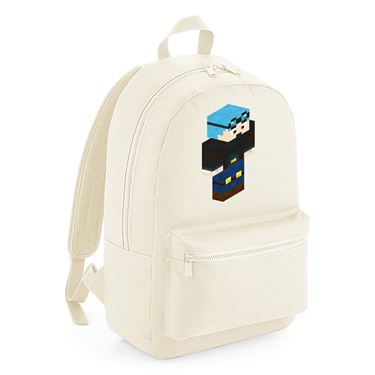 Picture of Dantdm Dan The Diamond Minecart Blue Hair Player Skin 3D Standing Right Pose Kids Backpack