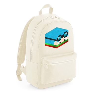 Picture of Dantdm Dan The Diamond Minecart Christmas Player Skin 3D Head Right Pose Kids Backpack