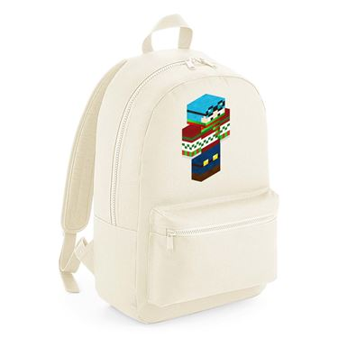 Picture of Dantdm Dan The Diamond Minecart Christmas Player Skin 3D Standing Right Pose Kids Backpack