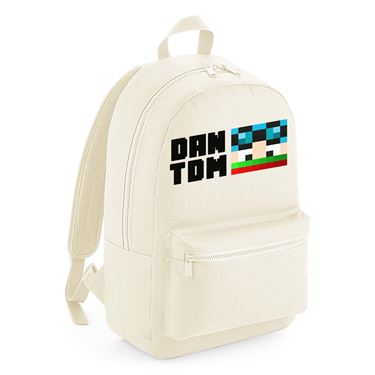 Picture of Dantdm Dan The Diamond Minecart Christmas Player Skin Face And Black Text Kids Backpack