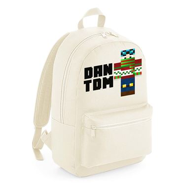 Picture of Dantdm Dan The Diamond Minecart Christmas Player Skin Standing Pose And Black Text Kids Backpack