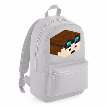 Picture of Dantdm Dan The Diamond Minecart Player Skin 3D Head Right Pose Kids Backpack