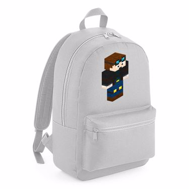 Picture of Dantdm Dan The Diamond Minecart Player Skin 3D Standing Right Pose Kids Backpack