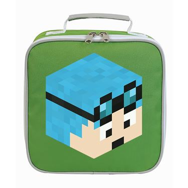 Picture of Dantdm Dan The Diamond Minecart Blue Hair Player Skin 3D Head Right Pose Lunch Bag
