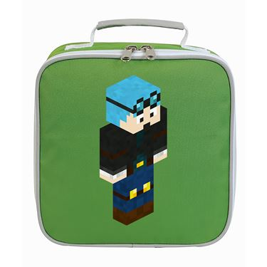 Picture of Dantdm Dan The Diamond Minecart Blue Hair Player Skin 3D Standing Right Pose Lunch Bag