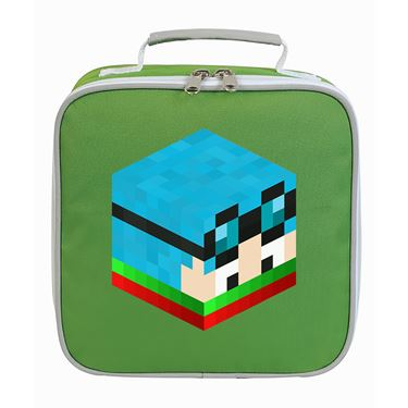 Picture of Dantdm Dan The Diamond Minecart Christmas Player Skin 3D Head Right Pose Lunch Bag