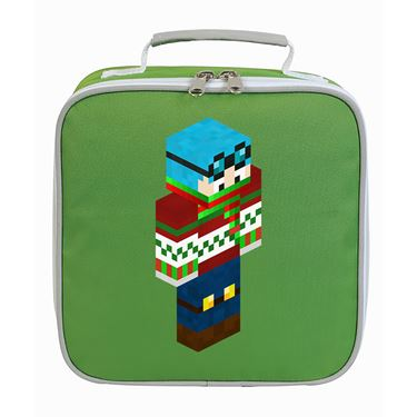 Picture of Dantdm Dan The Diamond Minecart Christmas Player Skin 3D Standing Right Pose Lunch Bag