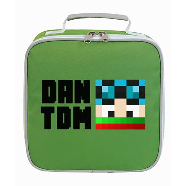 Picture of Dantdm Dan The Diamond Minecart Christmas Player Skin Face And Black Text Lunch Bag