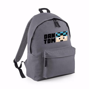 Picture of Dantdm Dan The Diamond Minecart Blue Hair Player Skin Face And Black Text Maxi Backpack