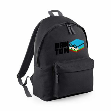 Picture of Dantdm Dan The Diamond Minecart Christmas Player Skin 3D Head Left Pose And Black Text Maxi Backpack