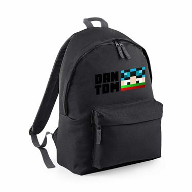 Picture of Dantdm Dan The Diamond Minecart Christmas Player Skin Face And Black Text Maxi Backpack
