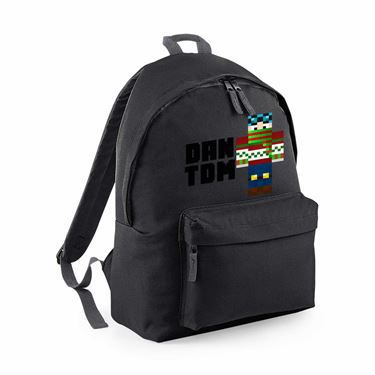 Picture of Dantdm Dan The Diamond Minecart Christmas Player Skin Standing Pose And Black Text Maxi Backpack