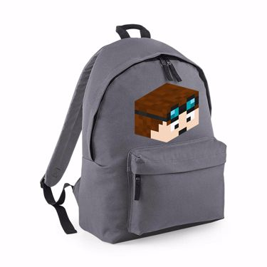 Picture of Dantdm Dan The Diamond Minecart Player Skin 3D Head Right Pose Maxi Backpack