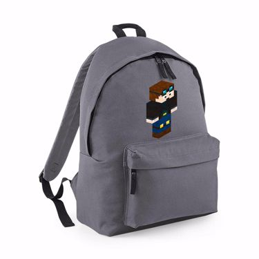 Picture of Dantdm Dan The Diamond Minecart Player Skin 3D Standing Right Pose Maxi Backpack