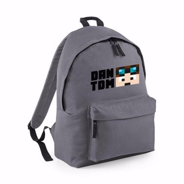 Picture of Dantdm Dan The Diamond Minecart Player Skin Face And Black Text Maxi Backpack