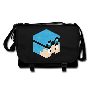 Picture of Dantdm Dan The Diamond Minecart Blue Hair Player Skin 3D Head Right Pose Messenger Bag