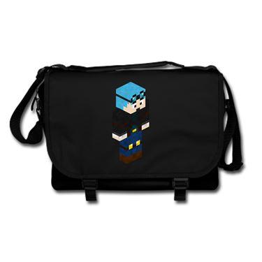 Picture of Dantdm Dan The Diamond Minecart Blue Hair Player Skin 3D Standing Right Pose Messenger Bag