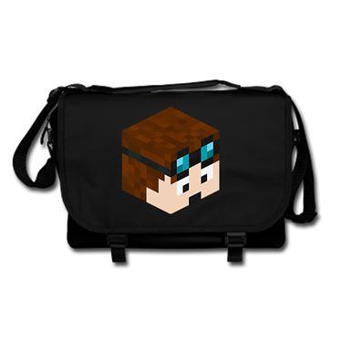 Picture of Dantdm Dan The Diamond Minecart Player Skin 3D Head Right Pose Messenger Bag