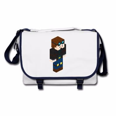 Picture of Dantdm Dan The Diamond Minecart Player Skin 3D Standing Right Pose Messenger Bag
