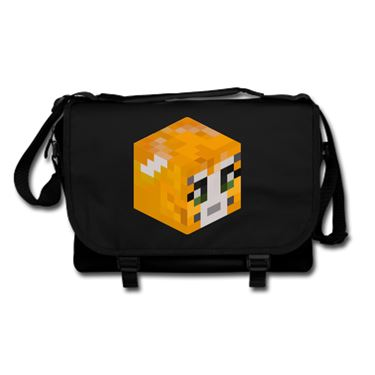 Picture of Stampy Cat Player Skin 3D Head Right Pose Messenger Bag