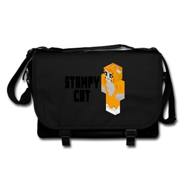 Picture of Stampy Cat Player Skin 3D Standing Left Pose And Black Text Messenger Bag