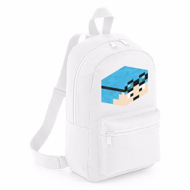 Picture of Dantdm Dan The Diamond Minecart Blue Hair Player Skin 3D Head Right Pose Mini Backpack