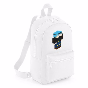 Picture of Dantdm Dan The Diamond Minecart Blue Hair Player Skin 3D Standing Right Pose Mini Backpack