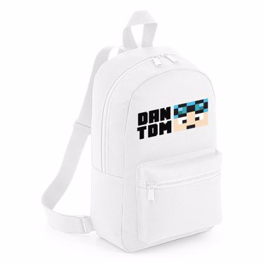Picture of Dantdm Dan The Diamond Minecart Blue Hair Player Skin Face And Black Text Mini Backpack