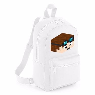 Picture of Dantdm Dan The Diamond Minecart Player Skin 3D Head Right Pose Mini Backpack
