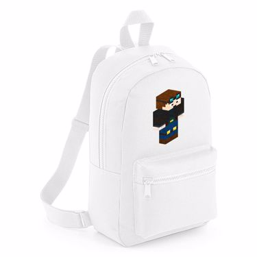 Picture of Dantdm Dan The Diamond Minecart Player Skin 3D Standing Right Pose Mini Backpack