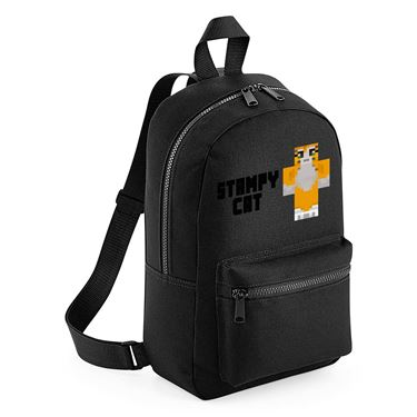 Picture of Stampy Cat Player Skin Standing Pose And Black Text Mini Backpack