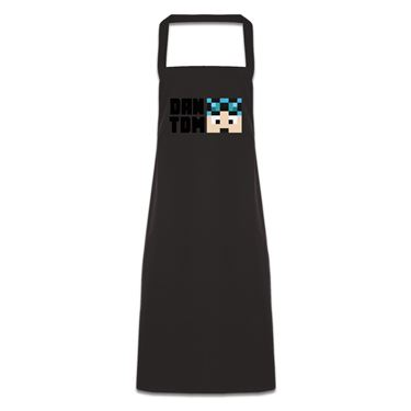 Picture of Dantdm Dan The Diamond Minecart Blue Hair Player Skin Face And Black Text Pocketless Apron