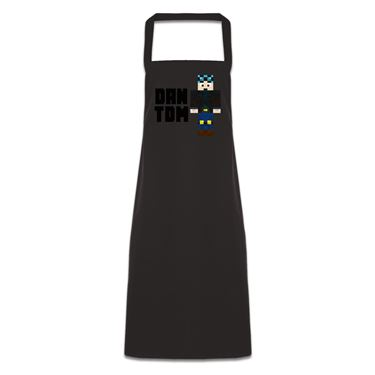 Picture of Dantdm Dan The Diamond Minecart Blue Hair Player Skin Standing Pose And Black Text Pocketless Apron