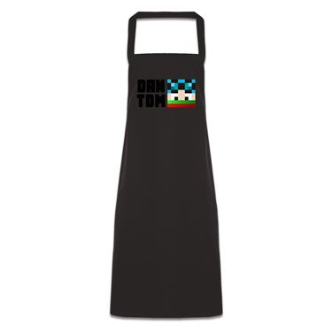 Picture of Dantdm Dan The Diamond Minecart Christmas Player Skin Face And Black Text Pocketless Apron