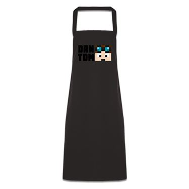 Picture of Dantdm Dan The Diamond Minecart Player Skin Face And Black Text Pocketless Apron
