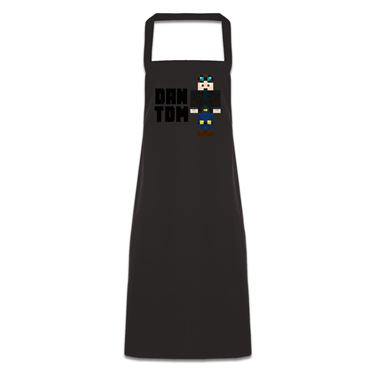 Picture of Dantdm Dan The Diamond Minecart Player Skin Standing Pose And Black Text Pocketless Apron