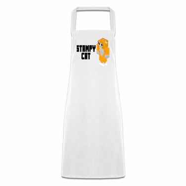 Picture of Stampy Cat Player Skin 3D Standing Left Pose And Black Text Pocketless Apron