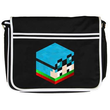 Picture of Dantdm Dan The Diamond Minecart Christmas Player Skin 3D Head Right Pose Retro Messenger Bag
