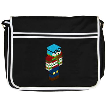 Picture of Dantdm Dan The Diamond Minecart Christmas Player Skin 3D Standing Right Pose Retro Messenger Bag