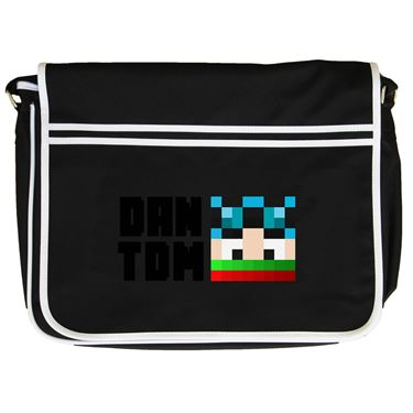 Picture of Dantdm Dan The Diamond Minecart Christmas Player Skin Face And Black Text Retro Messenger Bag
