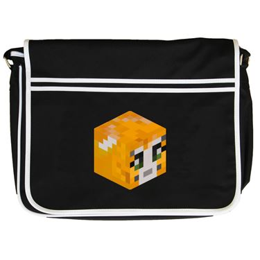 Picture of Stampy Cat Player Skin 3D Head Right Pose Retro Messenger Bag