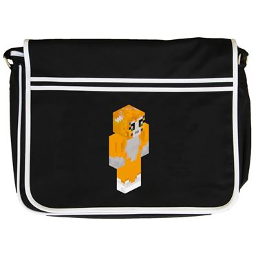 Picture of Stampy Cat Player Skin 3D Standing Right Pose Retro Messenger Bag