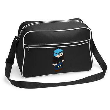 Picture of Dantdm Dan The Diamond Minecart Blue Hair Player Skin 3D Standing Right Pose Retro Shoulder Bag