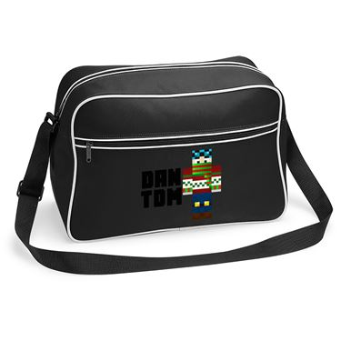Picture of Dantdm Dan The Diamond Minecart Christmas Player Skin Standing Pose And Black Text Retro Shoulder Bag