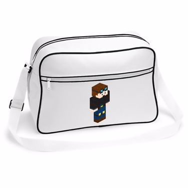 Picture of Dantdm Dan The Diamond Minecart Player Skin 3D Standing Right Pose Retro Shoulder Bag