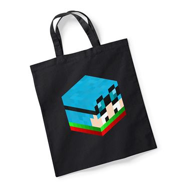 Picture of Dantdm Dan The Diamond Minecart Christmas Player Skin 3D Head Right Pose Reusable Bag For Life