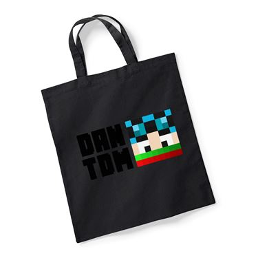 Picture of Dantdm Dan The Diamond Minecart Christmas Player Skin Face And Black Text Reusable Bag For Life