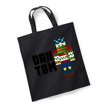 Picture of Dantdm Dan The Diamond Minecart Christmas Player Skin Standing Pose And Black Text Reusable Bag For Life