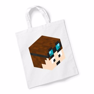 Picture of Dantdm Dan The Diamond Minecart Player Skin 3D Head Right Pose Reusable Bag For Life